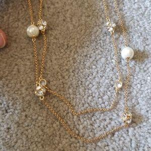 Kate spade multistrand rhinestone pearl necklace.